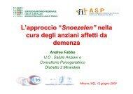 Snoezelen nella demenza - Associazione Geriatri Extraospedalieri