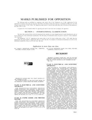 30 July 2002 - U.S. Patent and Trademark Office