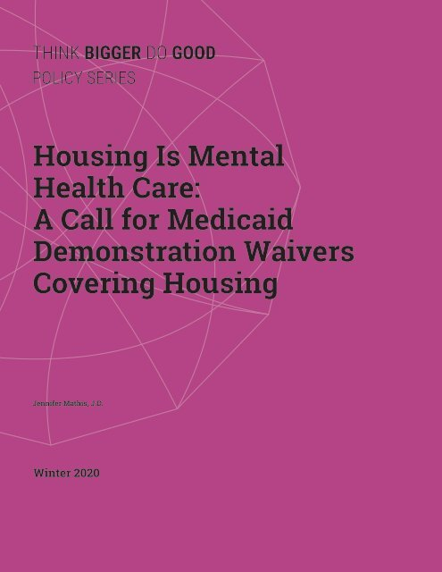 Housing is Mental Health Care