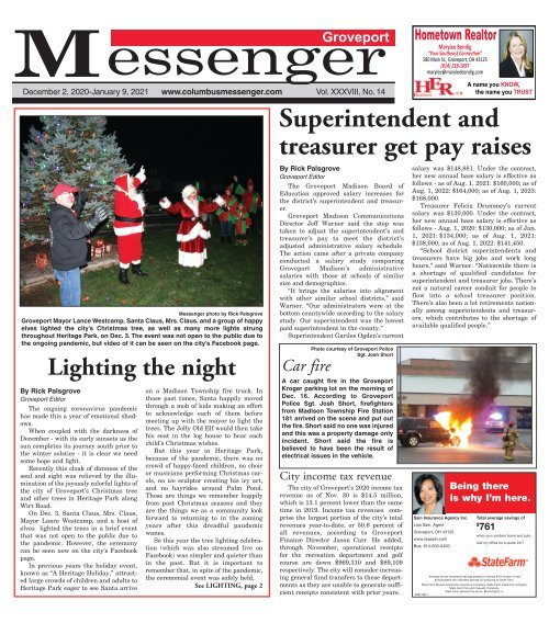 Groveport Messenger - December 20th, 2020