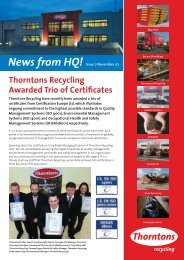 News from HQ! - Thorntons Recycling