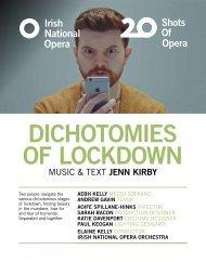 Dichotomies Of Lockdown Programme Book