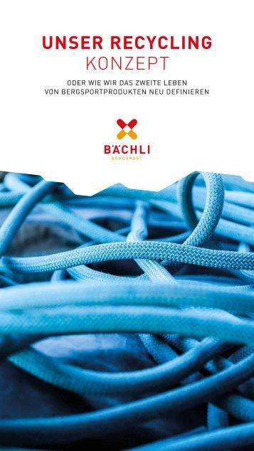 Recycling Booklet Bächli Bergsport