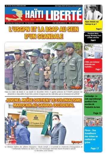 Haiti Liberte 23 Decembre 2020