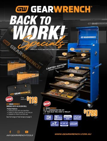 GEARWRENCH Back to Work Specials