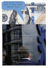 Grub Street Journal COVID 19 Bank Hiest  Special Issue