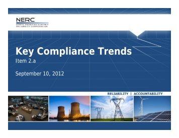 Compliance Violation Statistics - July/August 2012 - NERC