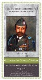 SGT. Phillip Myers Memorial Program