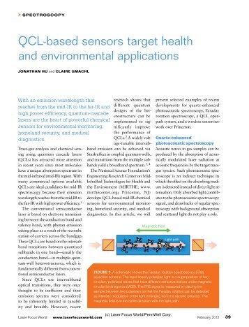QCL-based sensors target health and environmental applications