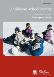 Teachers information pack - Jindabyne - NSW Sport and Recreation ...