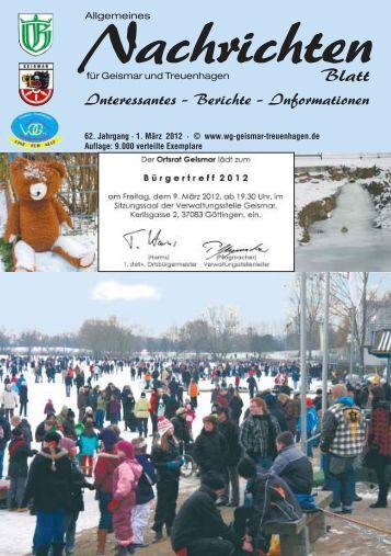 Nachrichtenblatt März 2012 - Werbegemeinschaft Geismar ...