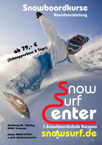Prospekt Snowboardkurs - snow surf center