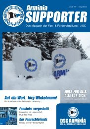 Liebe Supporter - Arminia Supporters Club