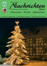 Nachrichtenblatt Dezember 2010 - Werbegemeinschaft Geismar ...