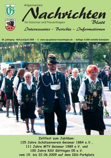 1Geismar-Juni/Juli-2009 - Werbegemeinschaft Geismar-Treuenhagen