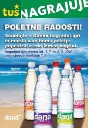 Nagradni kupon - Poletne radosti - Dana