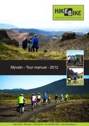 Mývatn - Tour manual - 2012 - Hike and Bike