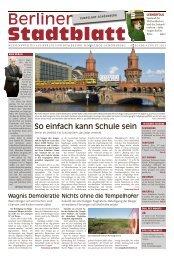 Berlin leben. In Ihren eigenen vier Wänden. - Berliner Stadtblatt