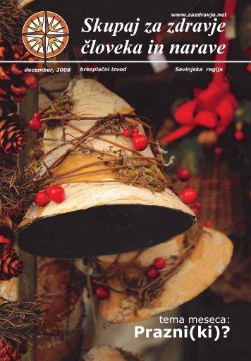 notranje strani december 08 - Skupaj za zdravje človeka in narave