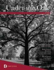 Duke School Under the Oak Magazine, Fall 2020