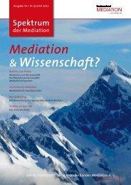 Mediation & Wissenschaft? - SDM-FSM