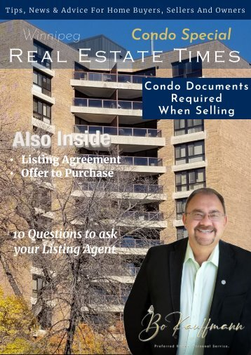 Condo Documents Package for Winnipeg Condo Sellers and Buyers