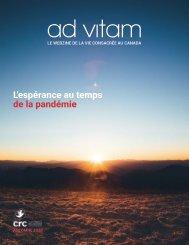 ad vitam - Automne 2020 : « L'espérance au temps de la pandémie »