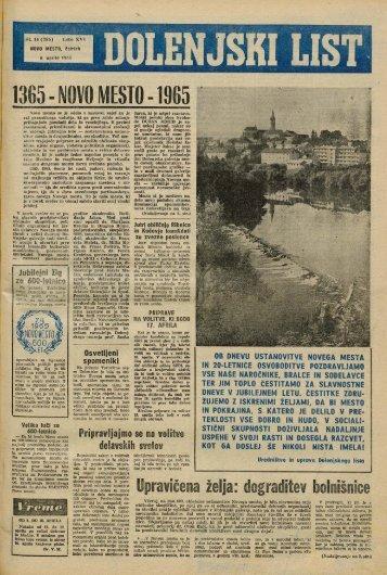 8. april 1965 (št. 785) - Dolenjski list
