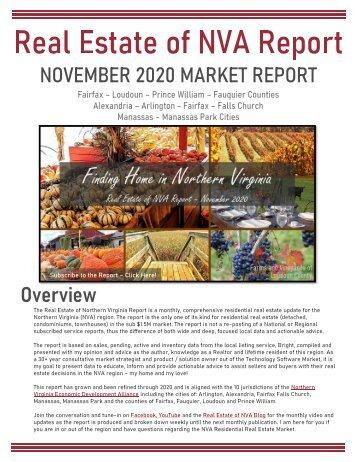 Real Estate of Northern Virginia Market Report - November 2020 Real Estate Trends - Michele Hudnall