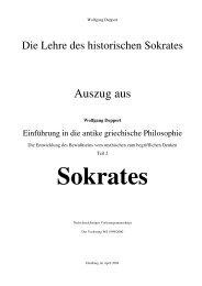 Die Lehre des historischen Sokrates - Wolfgang Deppert