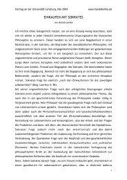 EINKAUFEN MIT SOKRATES - Harald Lemke