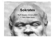 Sokrates - NLP-TrainerAkademie