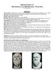 Griechisch II Material zu Sokrates / Platon