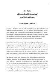 """Die Reihe """"Die großen Philosophen"""" von Michael Drews Sokrates"""