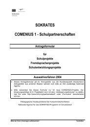 SOKRATES COMENIUS 1 - Schulpartnerschaften - Amt Rehna