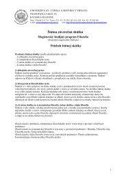 Predmet 2 - Katedra filozofie UCM - Univerzita sv. Cyrila a Metoda v ...