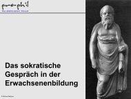 Das sokratische Gespräch - Philosophische Praxis pro-phil