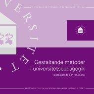 Gestaltande metoder i universitetspedagogik. Skriftserie från ...