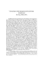 TUGEND UND WISSEN IN PLATONS GORGIAS Zu Grg. 506d–507c