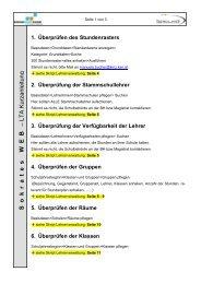 Sokrates WEB Lehrerverwaltung