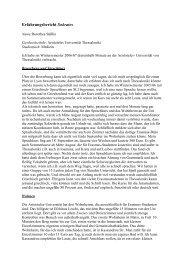 Erfahrungsbericht Sokrates - Medizinische Fakultät Studiendekanat