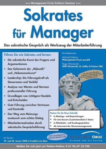 management circle seminar sokrates fr manager - Sokratisches Gesprach Beispiel