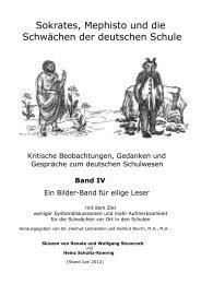 Sokrates, Mephisto und die Schwaechen der deutschen Schule ...