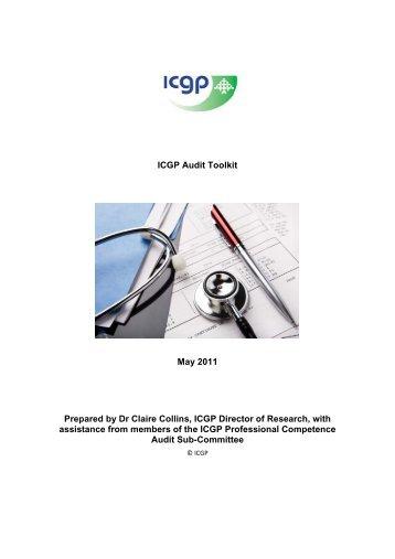 ICGP Audit Toolkit - Irish College of General Practitioners