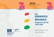 Das SOKRATES/ERASMUS- Programm der EU 1997 - DAAD