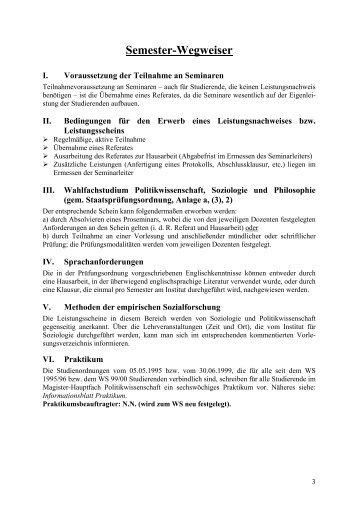 Semester-Wegweiser - Institut für Politikwissenschaft der Friedrich ...