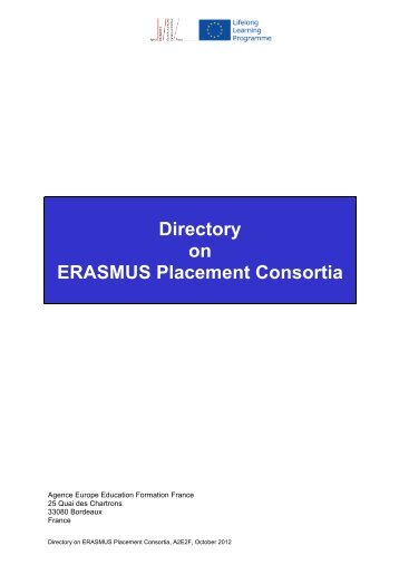 Directory on ERASMUS Placement Consortia - We Mean Business ...
