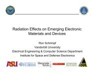 Radiation Response of New Materials Single Events in New ...
