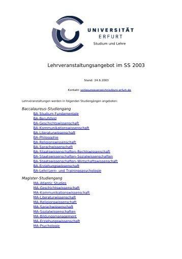 Deutsche Literaturwissenschaft - Universität Erfurt