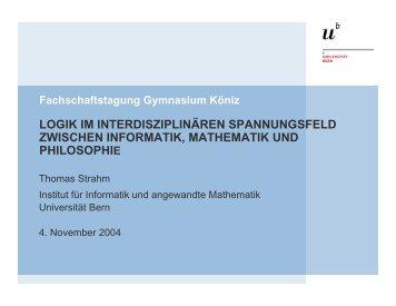 B - Institut für Informatik und angewandte Mathematik - Universität ...